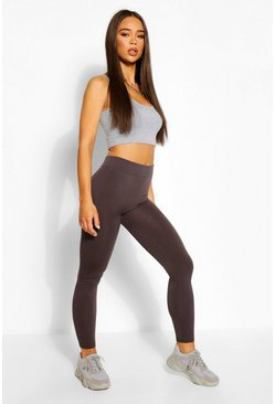 Grey Supersoft Fleece Lined Seamless Leggings