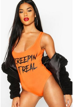 Dam Orange Halloween Slogan Body