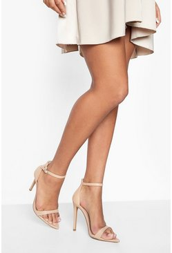 Nude Pointed Toe 2 Parts Heels