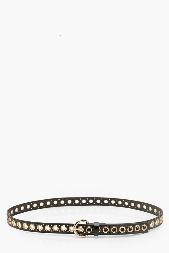 Patent Eyelet Buckle Belt