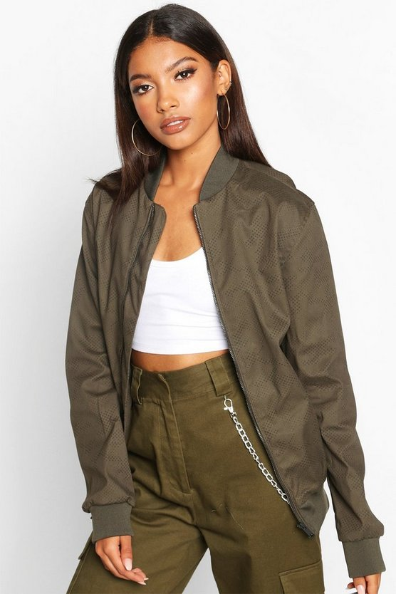 Oversized Boyfriend Bomber Jacket