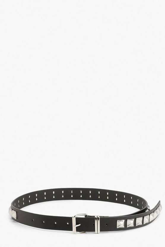Chunky Pyramid Stud Buckle Belt