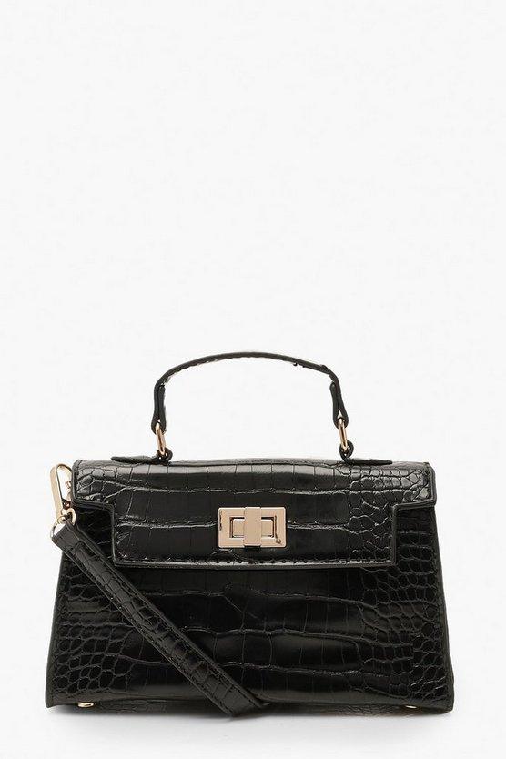 Croc Mini Lock Cross Body Bag