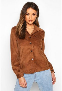 Womens Tan Cord Shirt