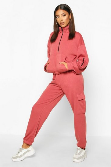 Womens Rose Utility Pocket Joggers and Sweat Tracksuit