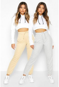 Grey 2 Pack Basic Loopback Jogger