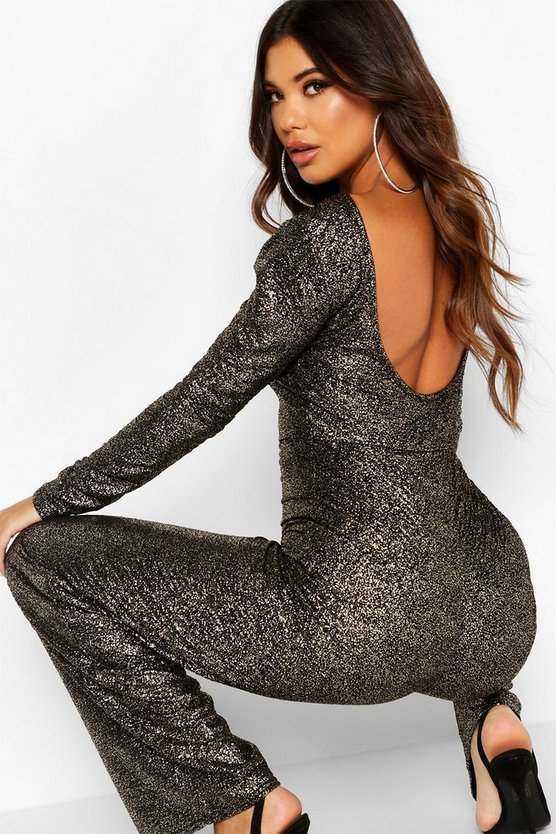 Long Sleeve Backless Jumpsuit