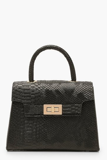 Womens Snake Small Tote Bag