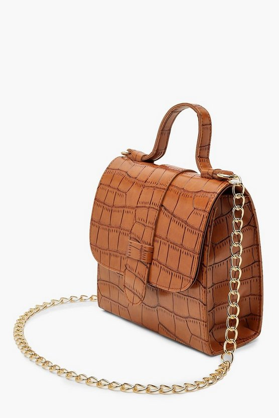 Croc Structured Mini Tote Bag