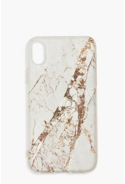 Dam White Gold Marble Print iPhone XR Case
