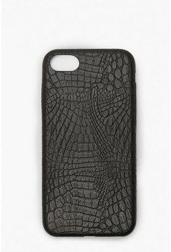 Croc PU iPhone 7/8 Case, Black