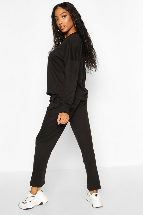 Long Sleeve Boxy Top And Jogger Co-Ord