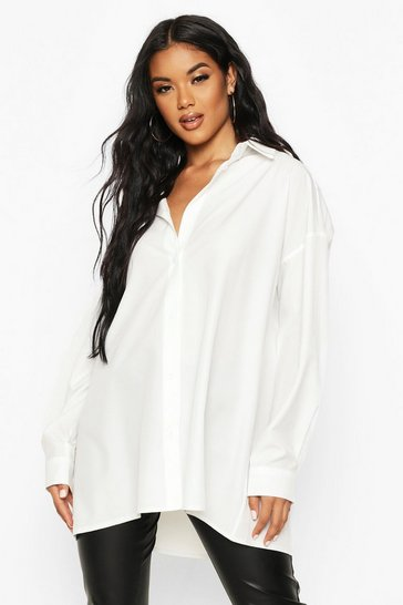 White Extreme Oversized Shirt