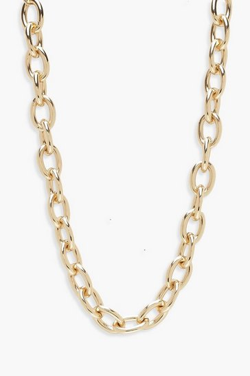 Womens Gold Chunky Chain Choker