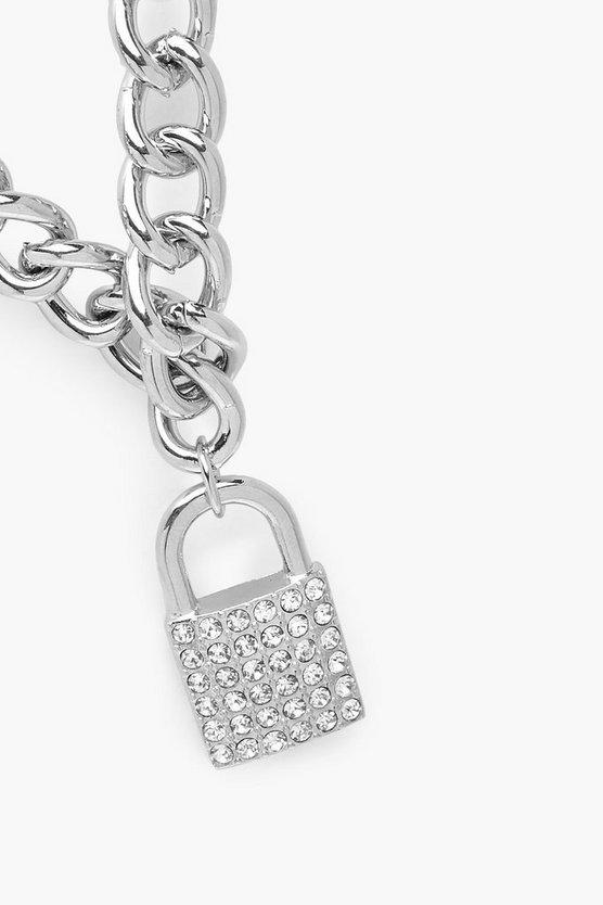 Diamante Statement Chain Necklace