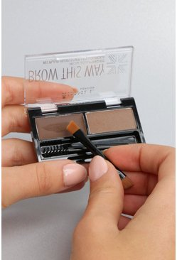 Rimmel London Brow This Way Kit - marron moyen, Femme