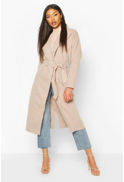 Stone Oversized Wide Collar Robe Coat