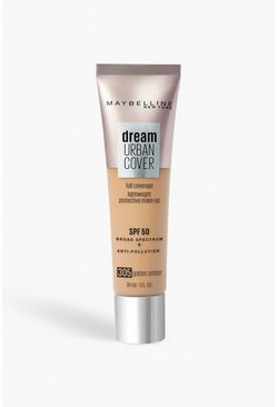 Beige Maybelline Urban Foundation 305 Golden Amber