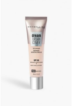 Beige Maybelline Urban Foundation 100 - Pure Ivory