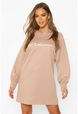 Stone Woman Signature Oversized Hoodie Dress