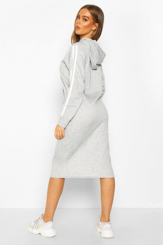 Double Side Stripe Hoodie Dress