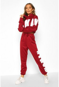 Wine Woman Oversized Sweat Tracksuit