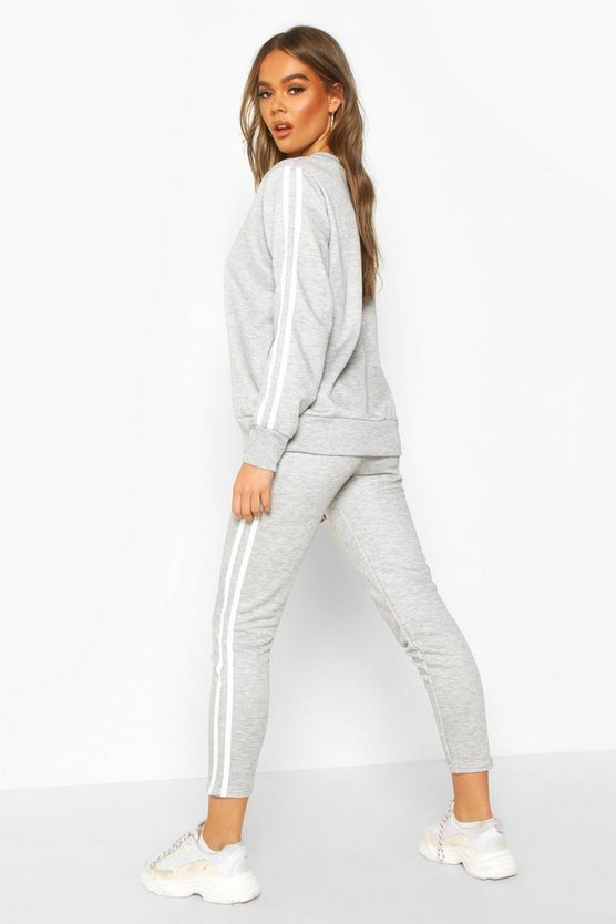 Side Stripe Sweat Jogger Set