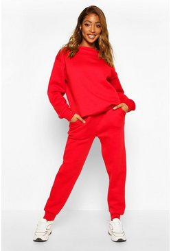 Womens Red Skinny Sweat Jogger