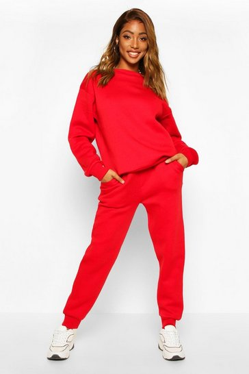 Red Skinny Sweat Jogger