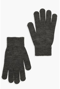 Grey marl Basic Gloves
