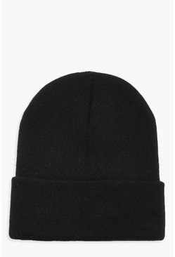 Dam Black Basic Knitted Beanie