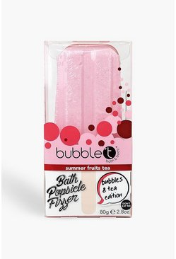 Womens Pink Bubble T Summer Fruits Tea Popsicle Fizzer