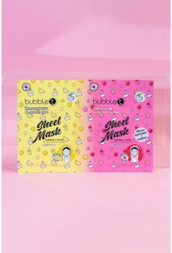 Multi Bubble T Lemongrass & Hibiscus Sheet Face Mask Duo