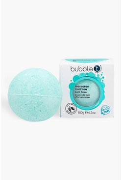 Womens Blue Bubble T Moroccan Mint Tea Bath Fizzer