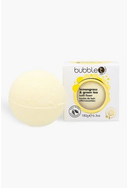 Womens Yellow Bubble T Lemongrass & Green Tea Bath Fizzer