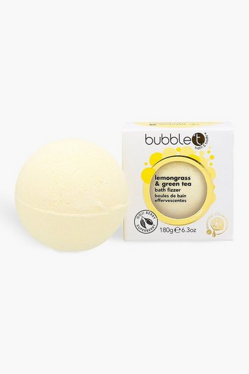 Yellow Bubble T Lemongrass & Green Tea Bath Fizzer