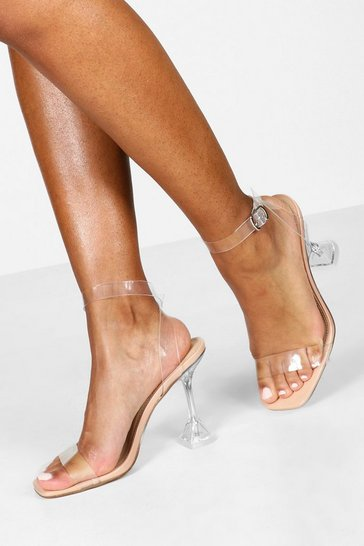 Nude Clear Interest Heel 2 Parts