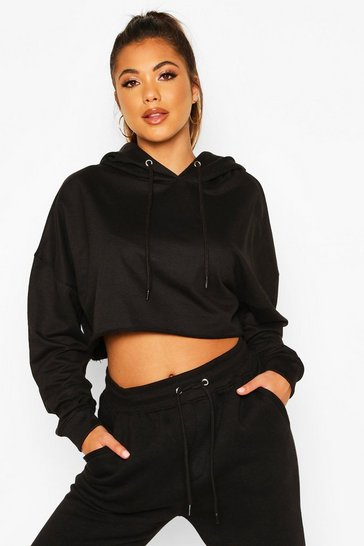 Black The Basic Cropped Hoody