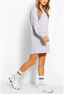Grey Recycled Oversized Sweat Dress