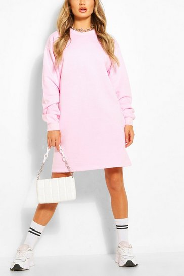 Pink Recycled Oversized Sweat Dress
