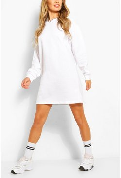 Recycled Oversized Sweat Dress, White