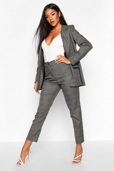Womens Grey Check Tailored Trouser