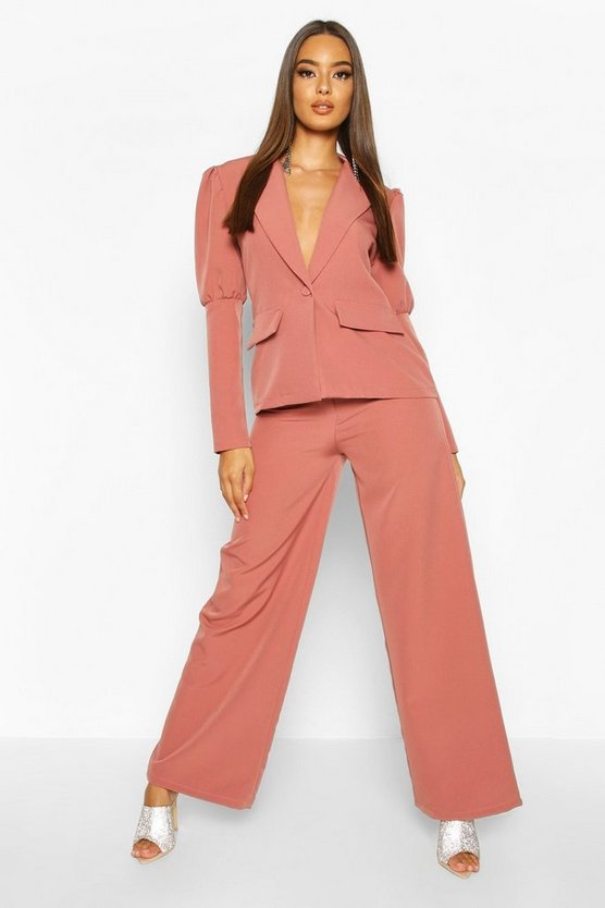 Rose Wide Leg Tailored Trouser
