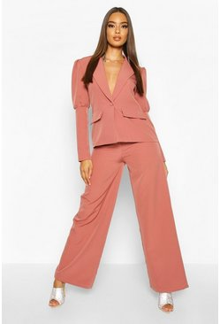 Womens Rose Wide Leg Tailored Trouser