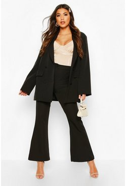 Womens Black Oversized Tailoring Blazer