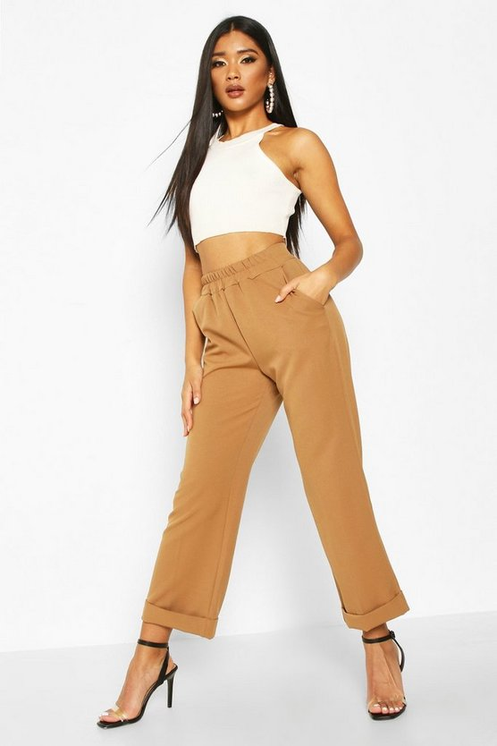 Turn Up Hem Tailored Trouser