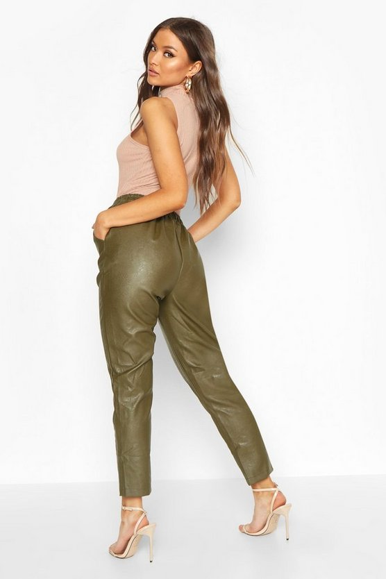 Leather Look Luxe Jogger