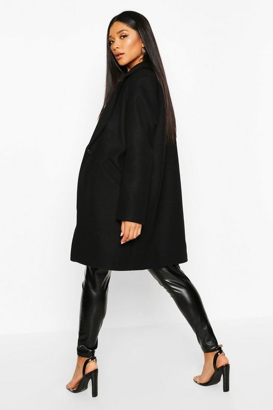 Tailored Wool Look Coat