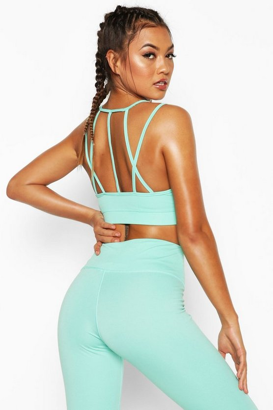 Fit Seamless Strappy Back Sports Bra