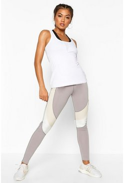 Leggings de gym sculptant fit, Gris, Femme